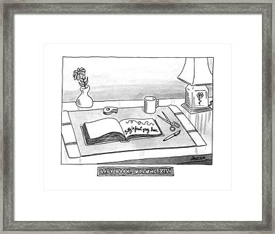Baby Book Volume Xiv Framed Print by Jack Ziegler