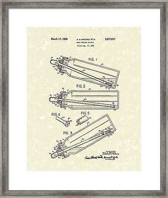 Baby Bottle 1959 Patent Art Framed Print by Prior Art Design