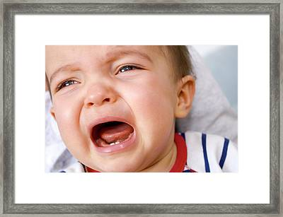 Baby Boy Crying Framed Print