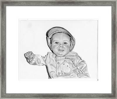 Baby Boy Jake Framed Print by Barb Baker