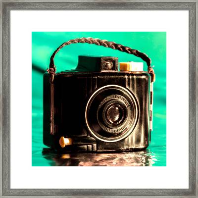 Baby Brownie Special - Square Framed Print