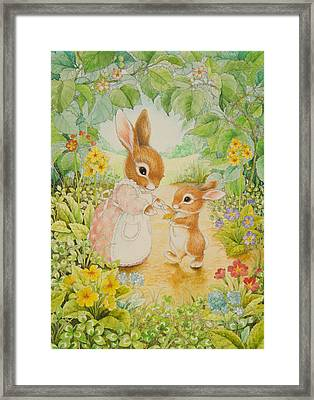 Baby Bunny Framed Print by Lynn Bywaters