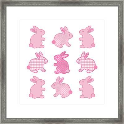 Baby Bunny Rabbits Framed Print by J M Designs