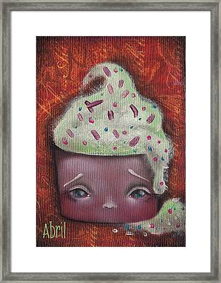 Baby Cakes II Framed Print by Abril Andrade Griffith