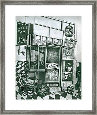 Baby Carriage Framed Print by Richie Montgomery
