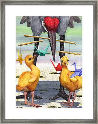 Baby Cranes Framed Print