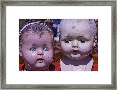 Baby Doll Heads Framed Print by Garry Gay
