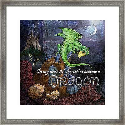 Baby Dragon Framed Print by Evie Cook