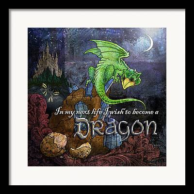 Moonglow Digital Art Framed Prints