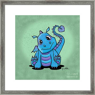 Baby Dragon Framed Print by Kim Niles