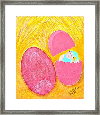 Baby Egg Framed Print by Lorna Maza