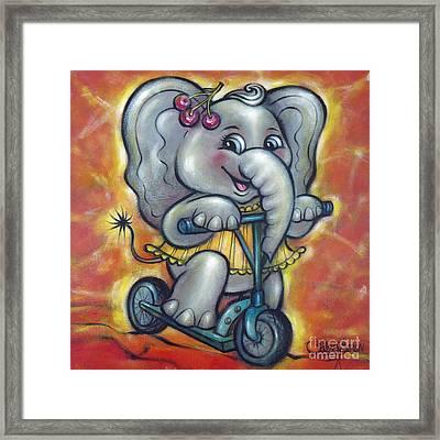 Baby Elephant 101011 Framed Print