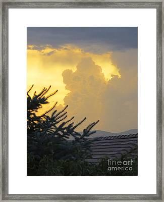 Baby Elephant Cloud Framed Print by Phyllis Kaltenbach