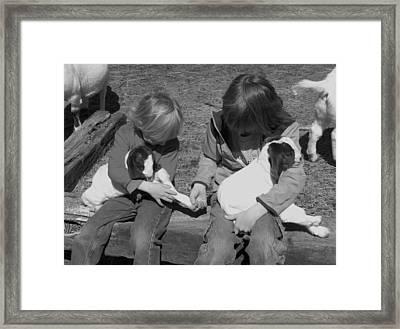 Baby Feet Framed Print by Sheri Lauren Schmidt