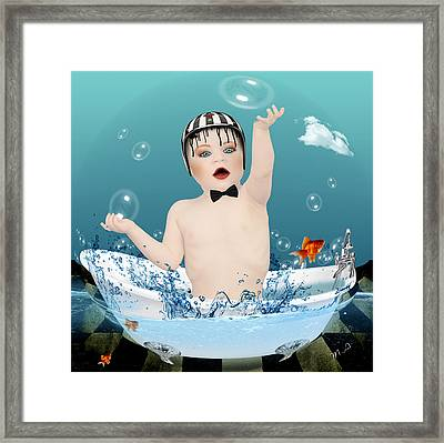 Baby Fun Time Framed Print by Mark Ashkenazi