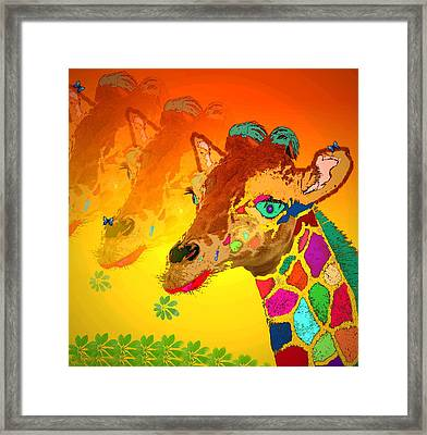 Baby Giraffe 2a Framed Print by Joyce Dickens