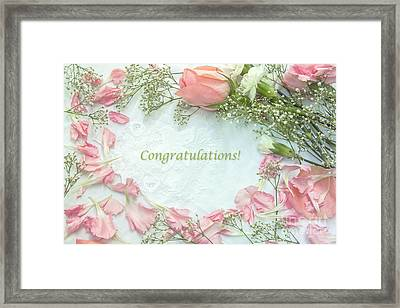 Baby Girl Congratulatory Card Framed Print by Diane Diederich
