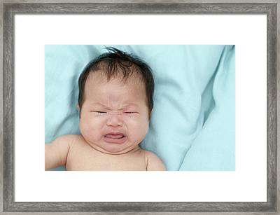 Baby Girl Crying Framed Print by Ruth Jenkinson