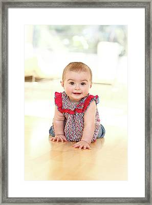 Baby Girl Framed Print by Ian Hooton