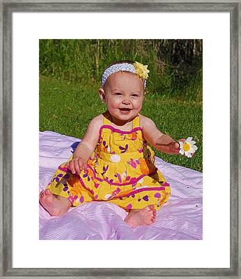Baby Girl Framed Print by Kimberley Anglesey