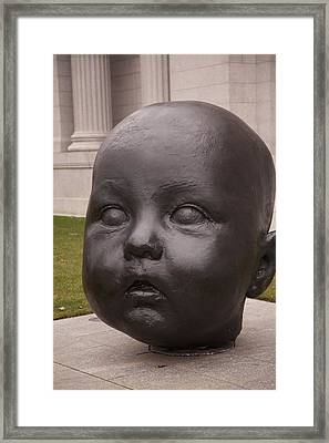 Baby Head Framed Print