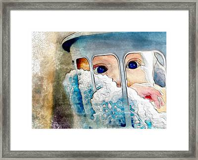 Framed Print featuring the digital art Baby In A Basket by Mary M Collins