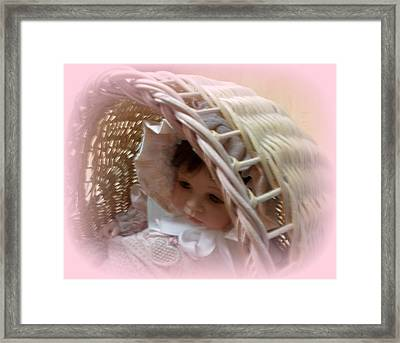 Baby In Pink Framed Print