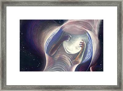 Baby In The Journey Framed Print by Robin Aisha Landsong