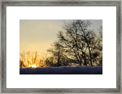 Baby It's Cold Outside Framed Print by Angel Sousa