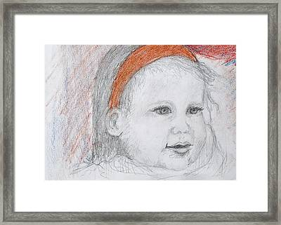 Baby Josephine Framed Print by Barbara Anna Knauf