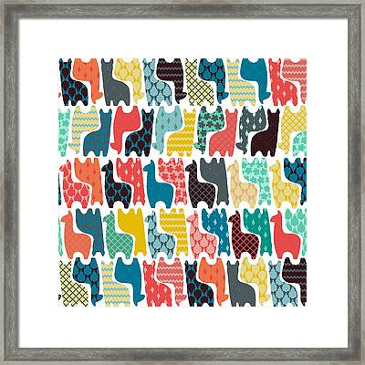 Baby Llamas Framed Print by Sharon Turner