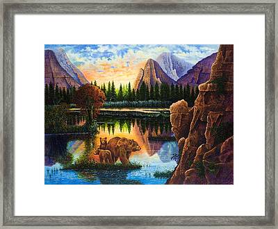 Baby Love Framed Print by Michael Frank