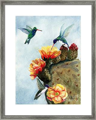 Baby Makes Three Framed Print by Marilyn Smith