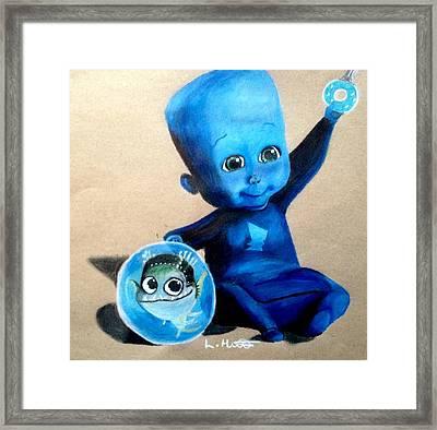 Baby Megamind Framed Print