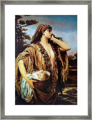 Baby Moses And Jacabed Framed Print by Pedro Americo