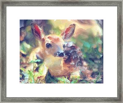 Baby Of The Wild Framed Print