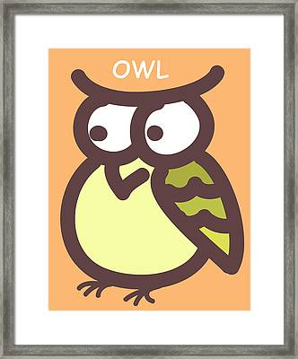 Baby Owl Nursery Wall Art Framed Print by Nursery Art