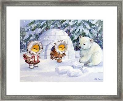 Baby Polar Bear Framed Print