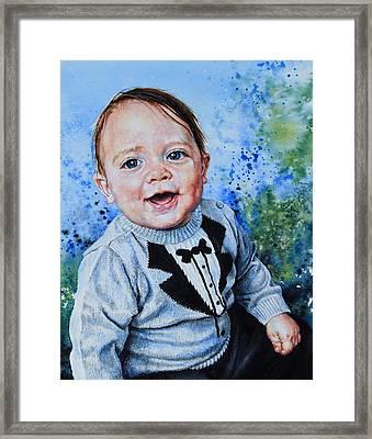 Baby Portrait Framed Print