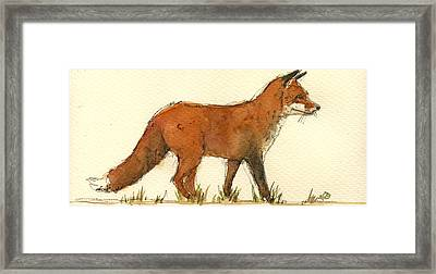 Baby Red Fox Framed Print by Juan  Bosco