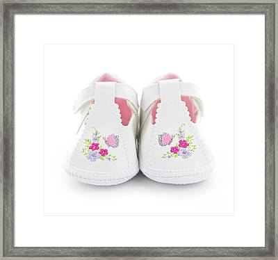 Baby Shoes Framed Print by Elena Elisseeva