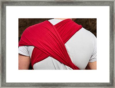 Baby Sling Framed Print by Tom Gowanlock