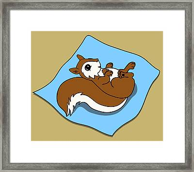 Baby Squirrel Framed Print by Christy Beckwith