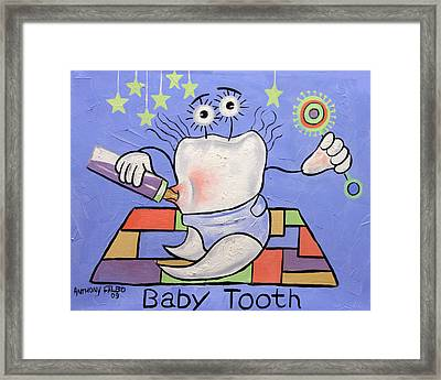Baby Tooth Framed Print by Anthony Falbo