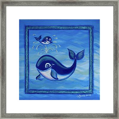 Framed Print featuring the painting Baby Shower by Agata Lindquist