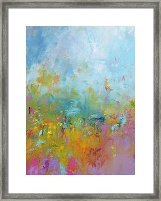 Baby You're A Firework Framed Print by Sally Kelly