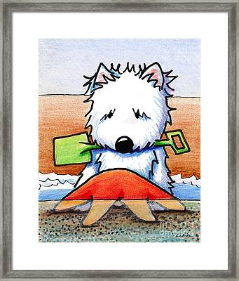 Baby You're A Star With White Border Framed Print by Kim Niles