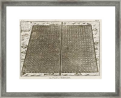 Babylon Framed Print by Mid-manhattan Picture Collection/new York Public Library