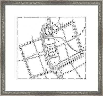 Babylonia: Plan Of Babylon Framed Print by Granger