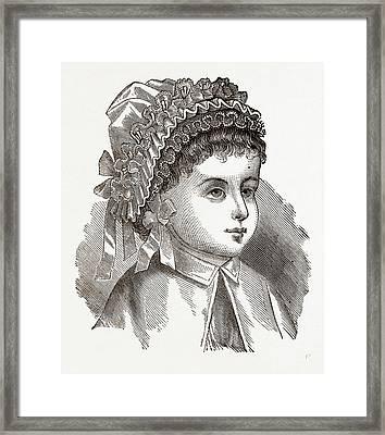 Babys Bonnet, 19th Century  Fashion Framed Print